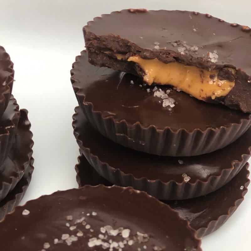 Peanut Butter Cups with No Refiend Sugar