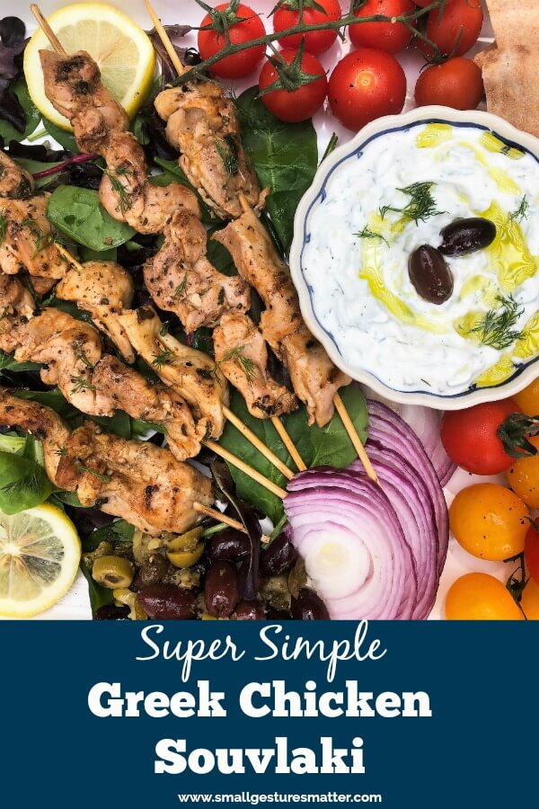 Greek Chicken Souvlaki Platter/ Food Board
