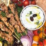 Greek Chicken Souvlaki Platter/ Food Board