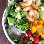 Shrimp Mango Avocado Salad with Cilantro Lime Vinaigrette