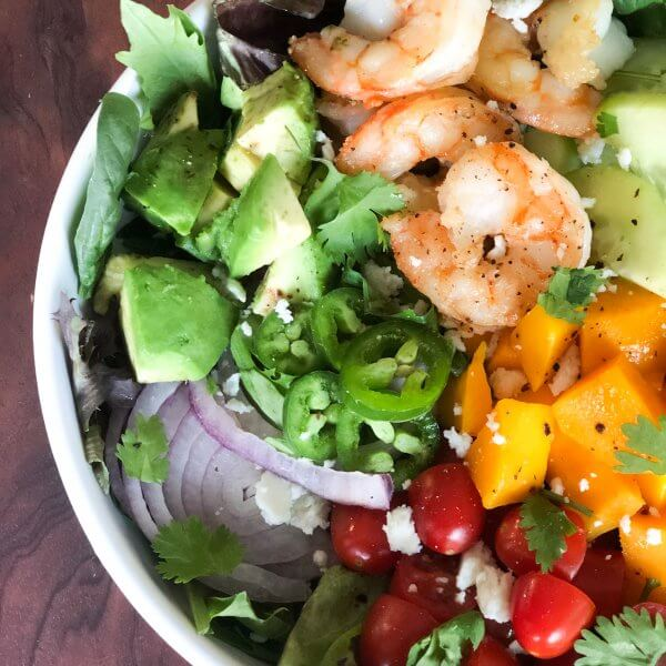 Shrimp Mango Avocado Salad with Cilantro Lime Vinaigrette