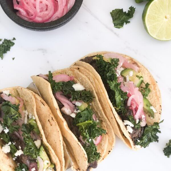 Black Bean and Kale Tacos