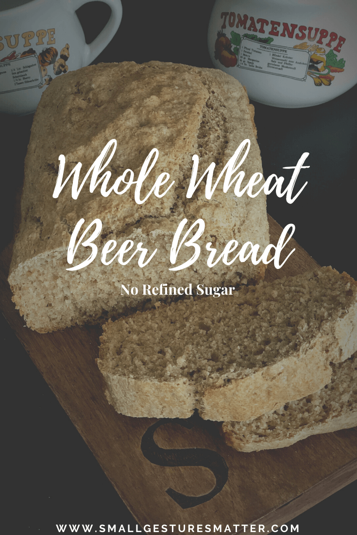 Whole Wheat Beer Bread Contains No Refined Sugar