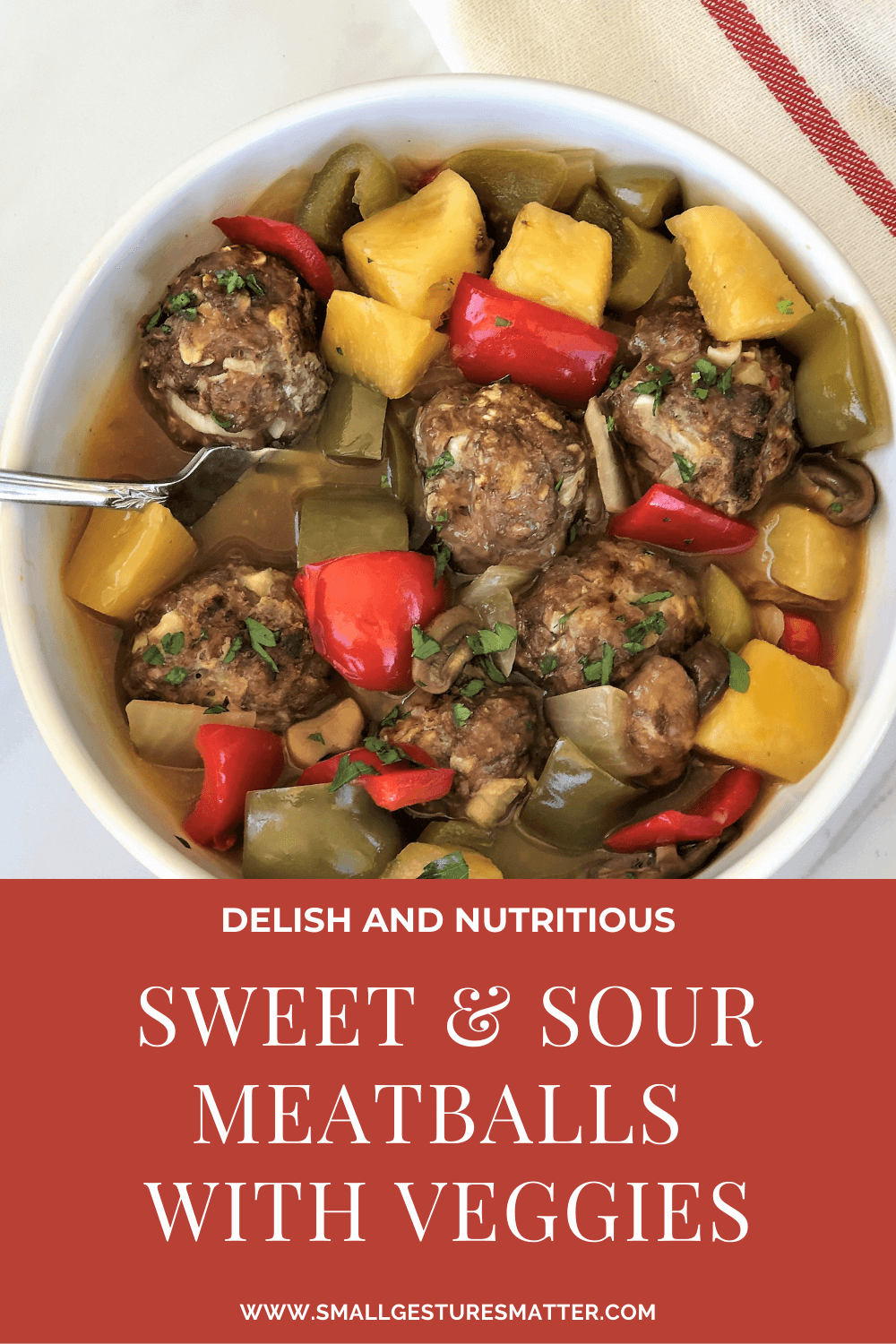Sweet and Sour Meatballs with Vegetables