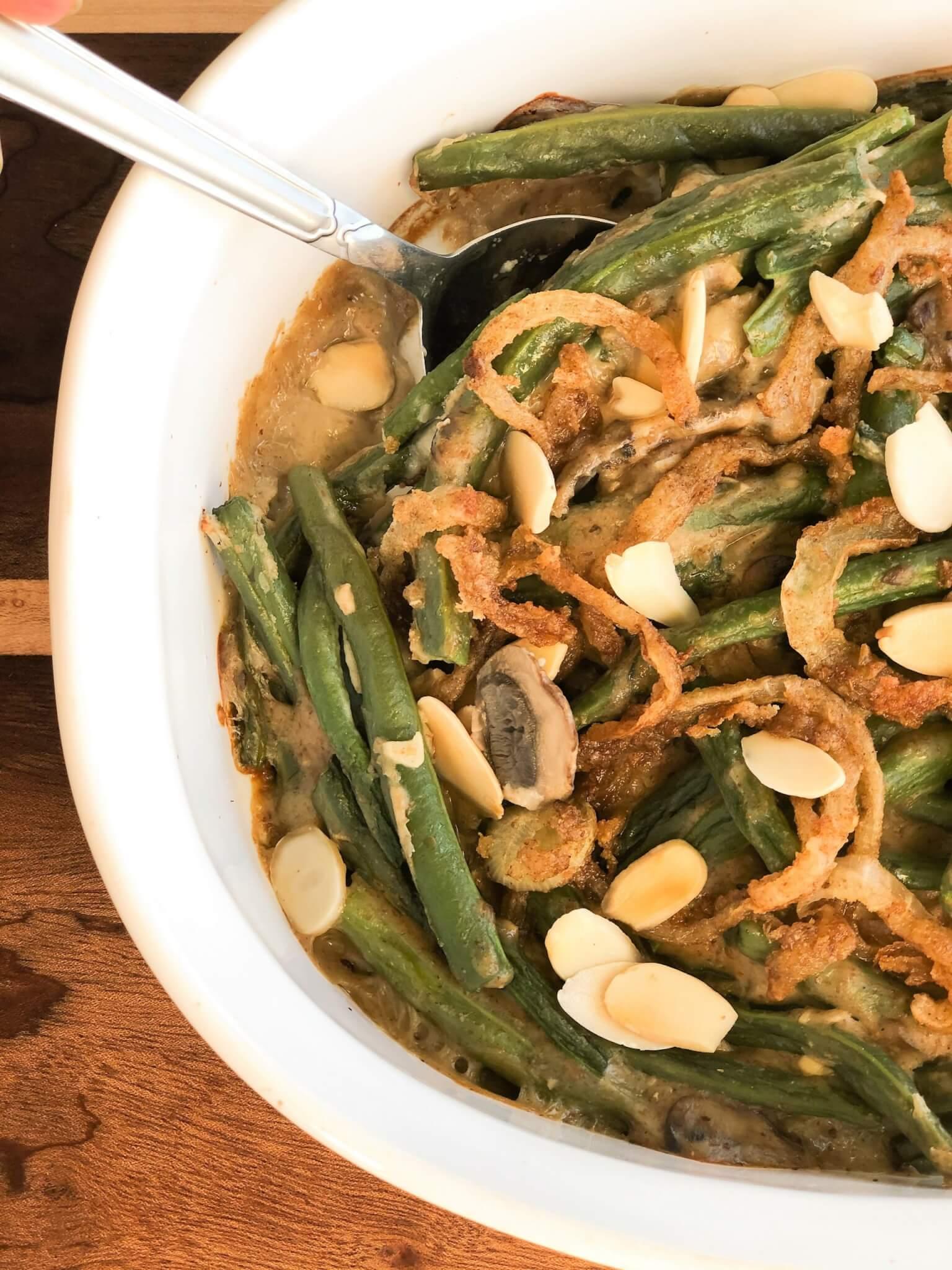 Healthier Green Bean Casserole - No Refined Ingredients
