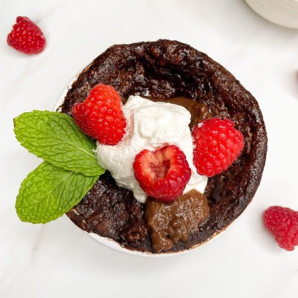 Healthier Chocolate Lava Cakes
