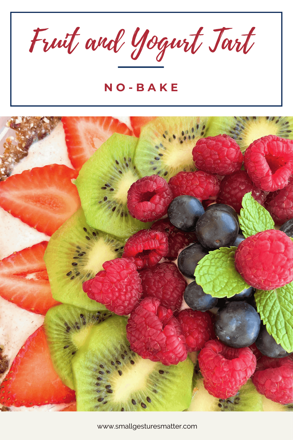 No-Bake Fruit and Yogurt Tart