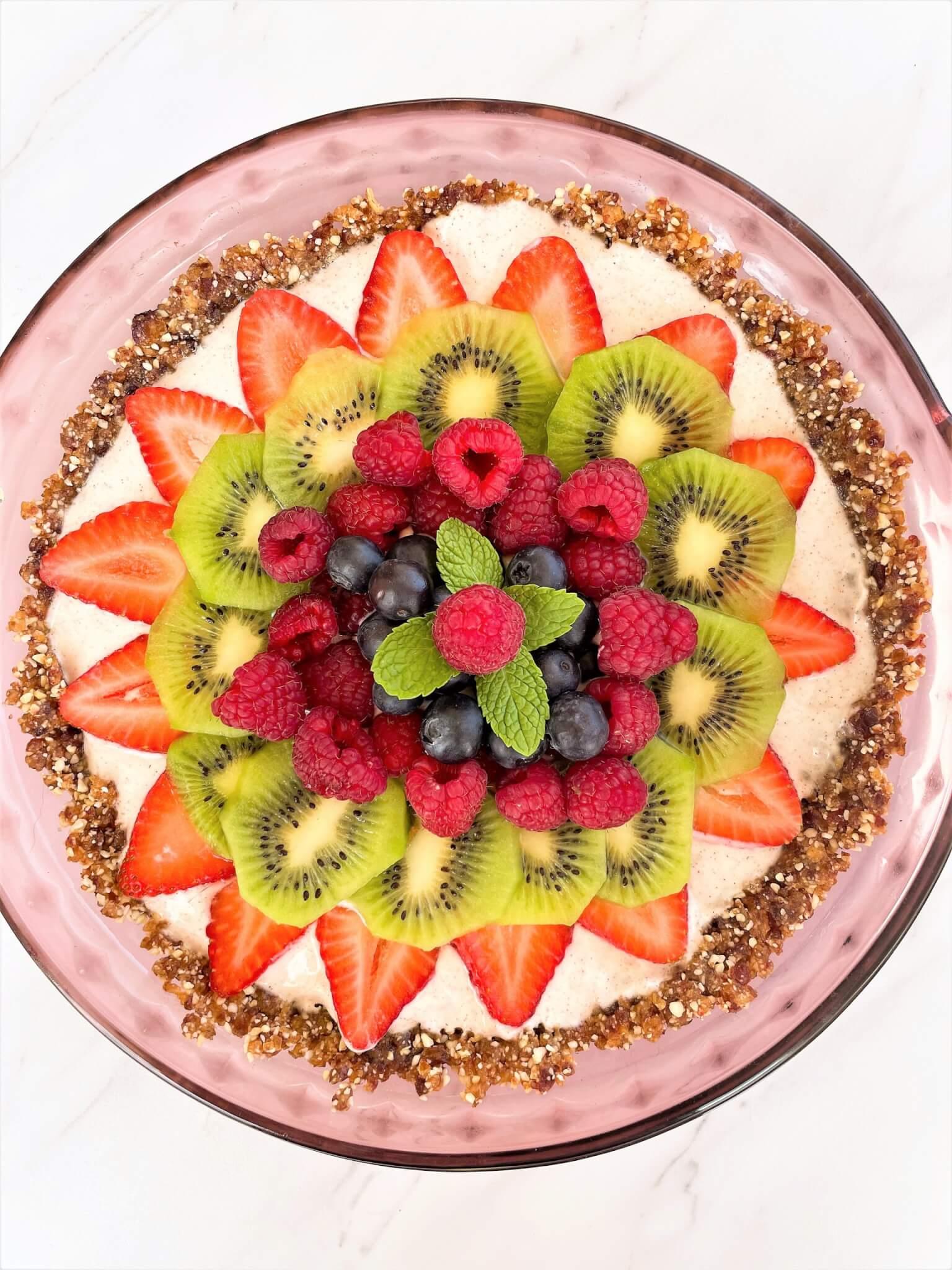 Yogurt Fruit Pizza