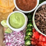 Taco Board with Variety of Toppings