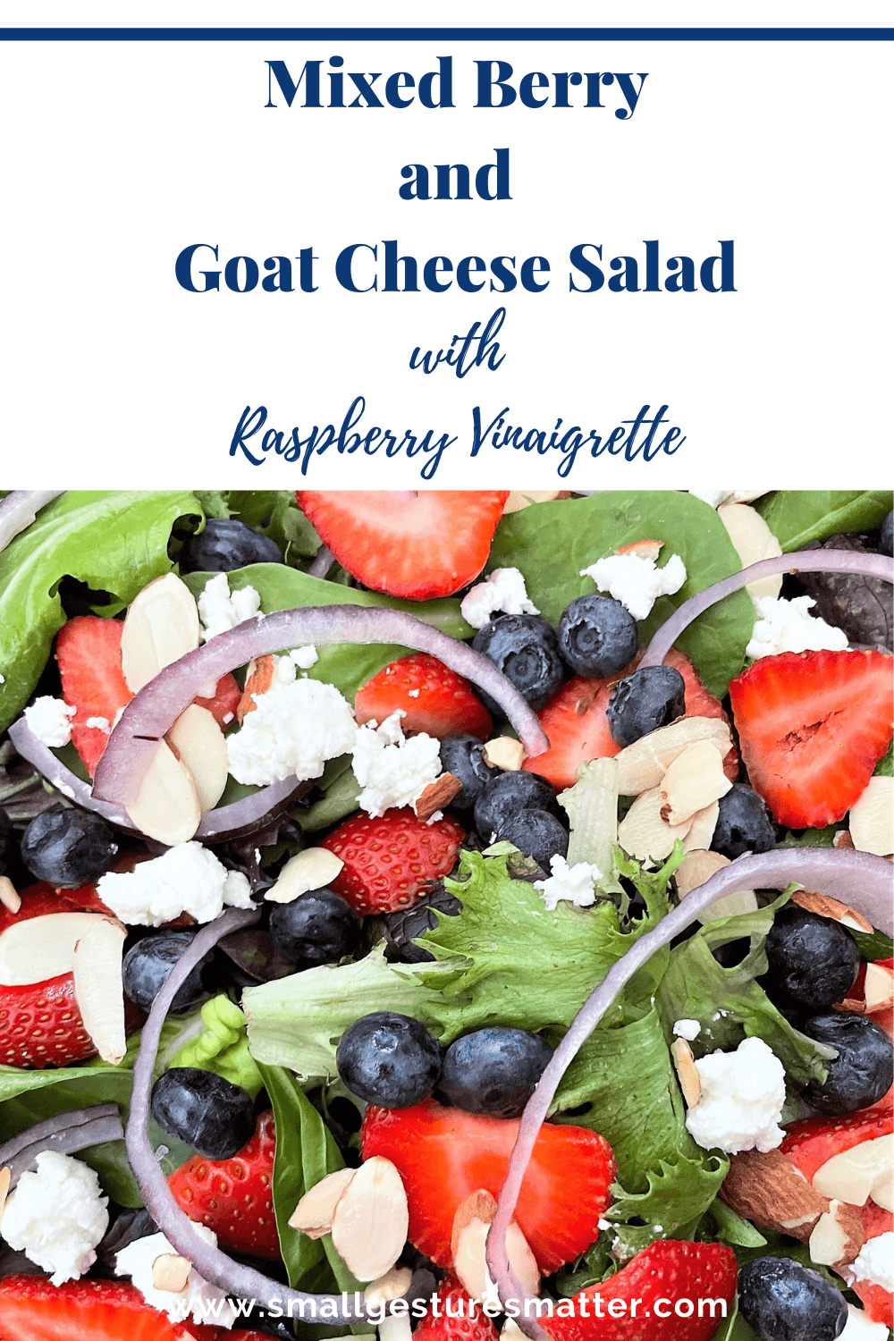 Mixed Berry and Goat Cheese Salad with Raspberry Vinaigrette