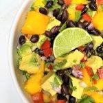 Avocado Mango Salsa with Black Beans