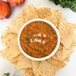 Roasted Peach Salsa with Tortilla Chips