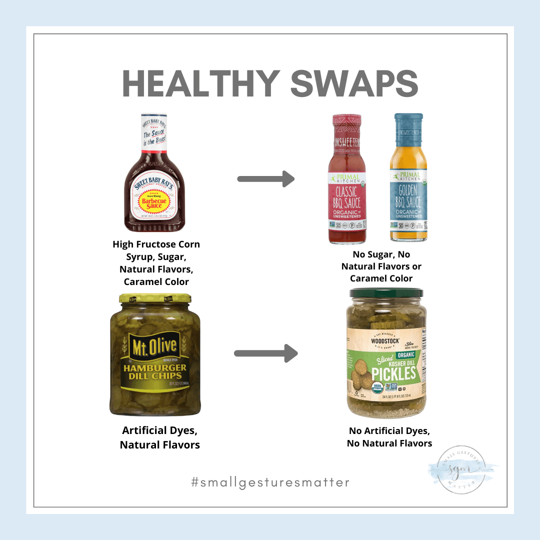 Healthy Swaps for Barbeque Sauce and Pickles