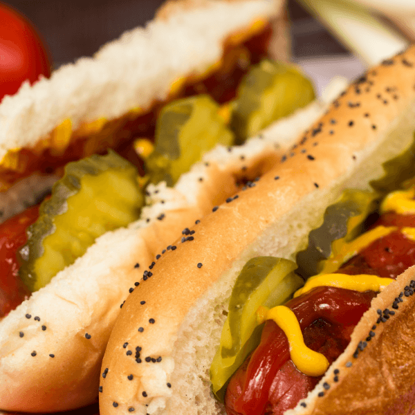 Hot Dogs with condiments